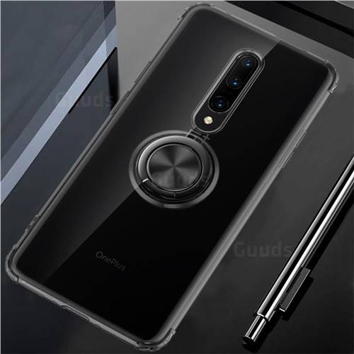 Anti-fall Invisible Press Bounce Ring Holder Phone Cover for OnePlus 7 Pro - Elegant Black