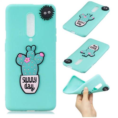 Cactus Flower Soft 3D Silicone Case for OnePlus 7 Pro