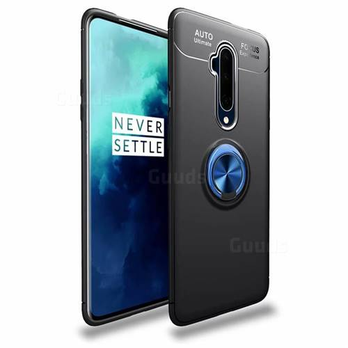 Auto Focus Invisible Ring Holder Soft Phone Case for OnePlus 7T Pro - Black Blue