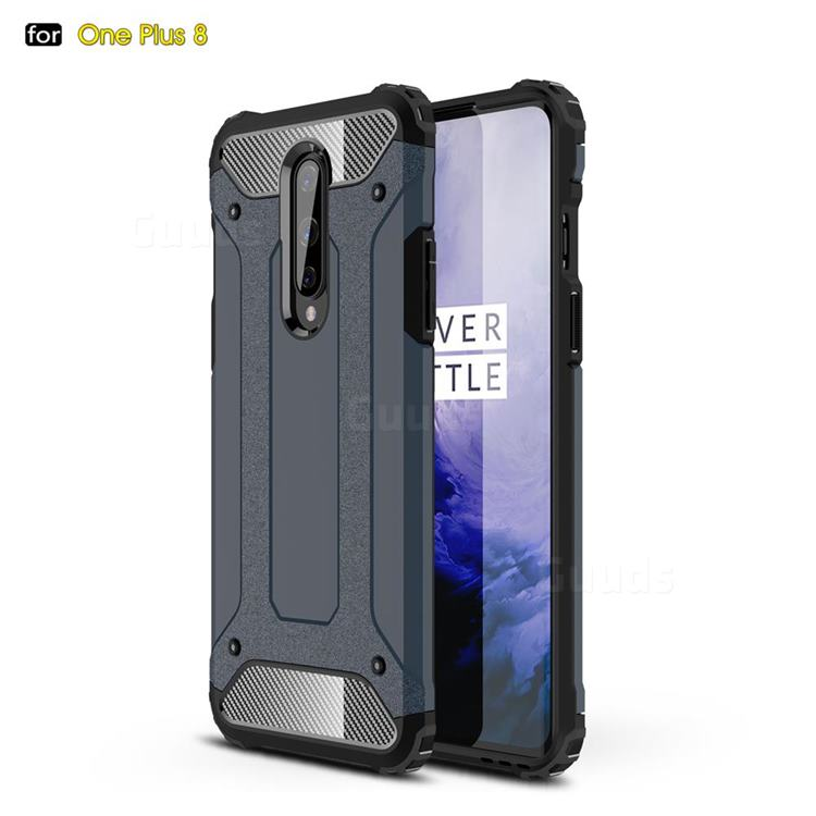 King Kong Armor Premium Shockproof Dual Layer Rugged Hard Cover for OnePlus 8 - Navy