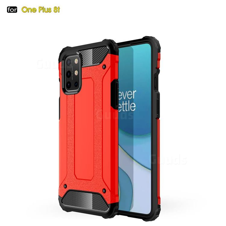 King Kong Armor Premium Shockproof Dual Layer Rugged Hard Cover for OnePlus 8T - Big Red