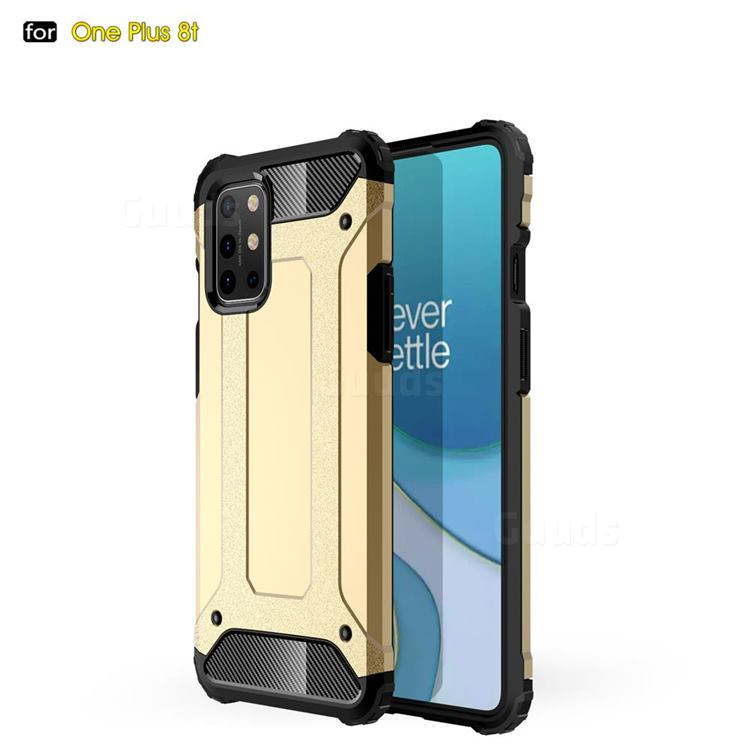 King Kong Armor Premium Shockproof Dual Layer Rugged Hard Cover for OnePlus 8T - Champagne Gold