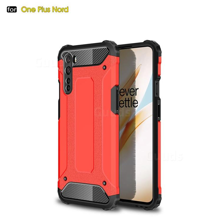 King Kong Armor Premium Shockproof Dual Layer Rugged Hard Cover for OnePlus Nord (OnePlus 8 NORD 5G, OnePlus Z) - Big Red