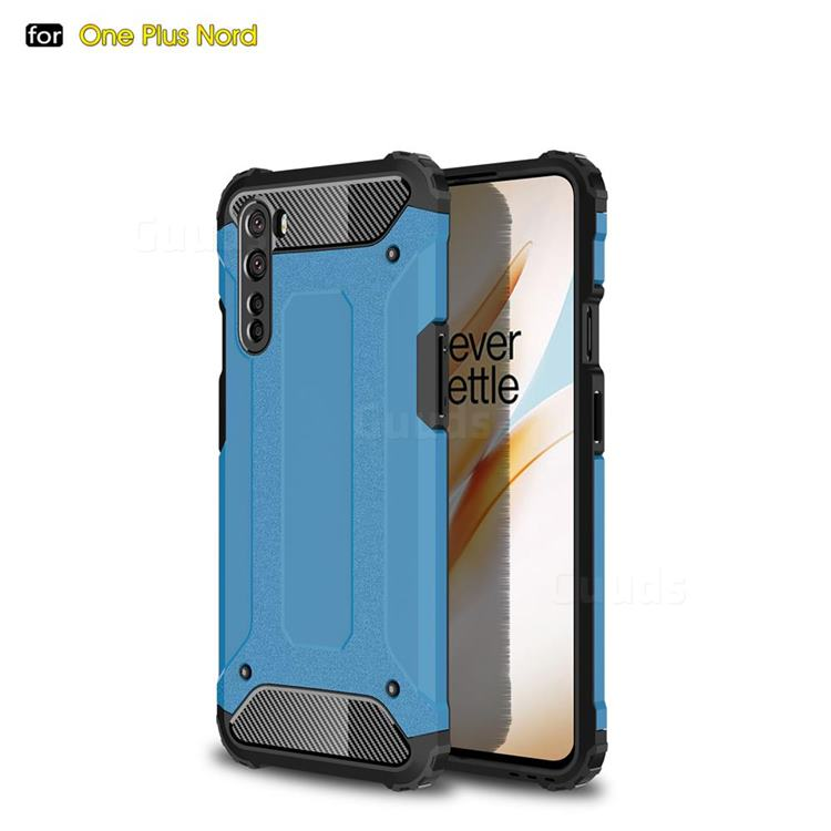 King Kong Armor Premium Shockproof Dual Layer Rugged Hard Cover for OnePlus Nord (OnePlus 8 NORD 5G, OnePlus Z) - Sky Blue