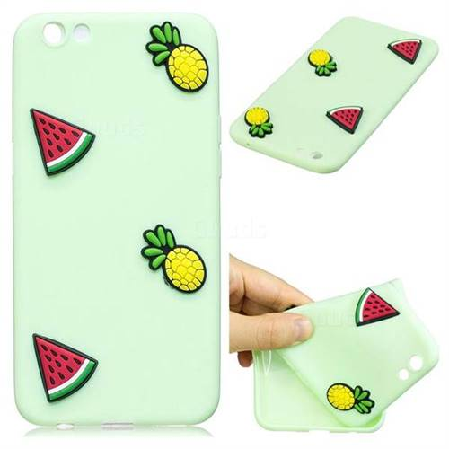 Watermelon Pineapple Soft 3D Silicone Case for Oppo R9s