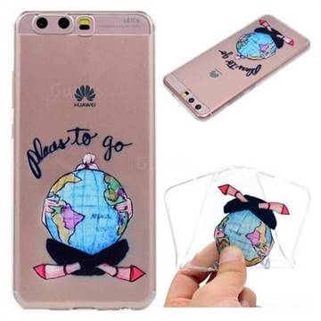 Global Travel Super Clear Soft TPU Back Cover for Huawei P10