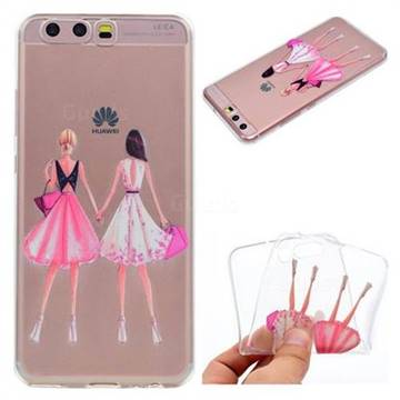 Maiden Honey Super Clear Soft TPU Back Cover for Huawei P10