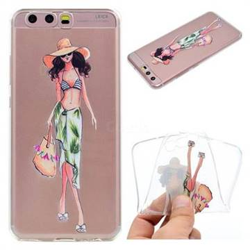 Bikini Girl Super Clear Soft TPU Back Cover for Huawei P10