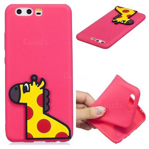Yellow Giraffe Soft 3D Silicone Case for Huawei P10