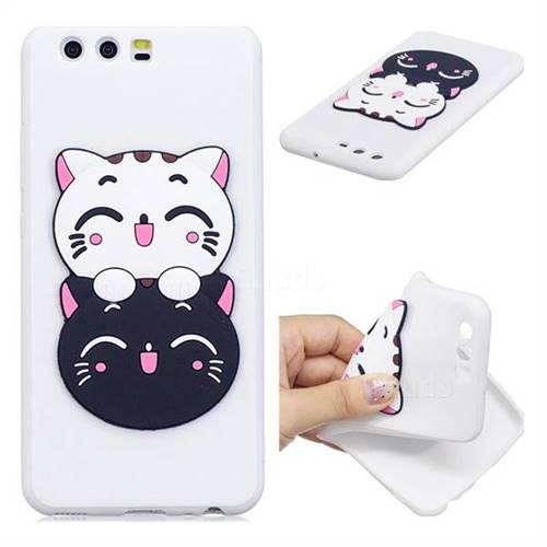 Couple Cats Soft 3D Silicone Case for Huawei P10