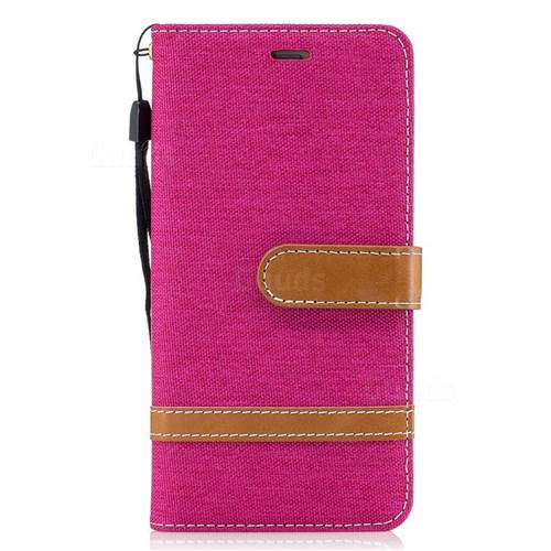 check out 96677 79431 Jeans Cowboy Denim Leather Wallet Case for Huawei P10 - Rose