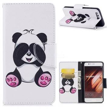 Lovely Panda Leather Wallet Case for Huawei P10