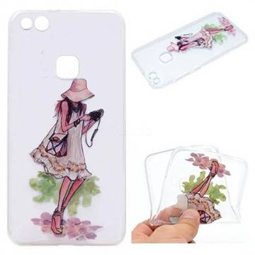 Travel Girl Super Clear Soft TPU Back Cover for Huawei P10 Lite P10Lite