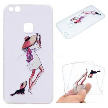 Pet Girl Super Clear Soft TPU Back Cover for Huawei P10 Lite P10Lite
