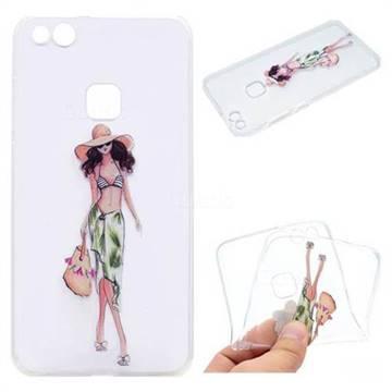 Bikini Girl Super Clear Soft TPU Back Cover for Huawei P10 Lite P10Lite
