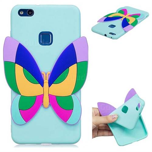 Rainbow Butterfly Soft 3D Silicone Case for Huawei P10 Lite P10Lite
