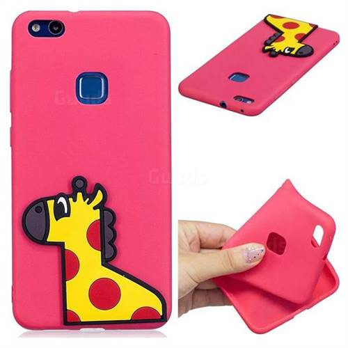Yellow Giraffe Soft 3D Silicone Case for Huawei P10 Lite P10Lite