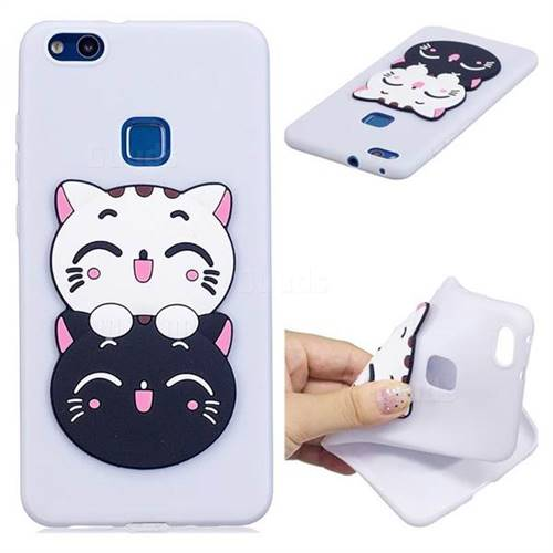 Couple Cats Soft 3D Silicone Case for Huawei P10 Lite P10Lite