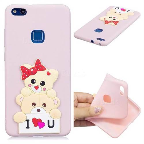 Love Bear Soft 3D Silicone Case for Huawei P10 Lite P10Lite