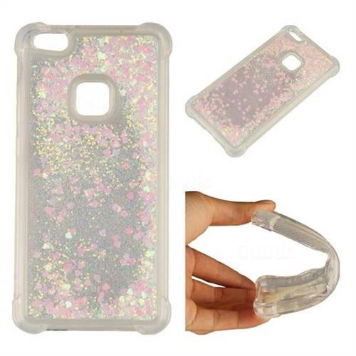 Dynamic Liquid Glitter Sand Quicksand Star TPU Case for Huawei P10 Lite P10Lite - Pink