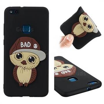 Bad Boy Owl Soft 3D Silicone Case for Huawei P10 Lite P10Lite - Black