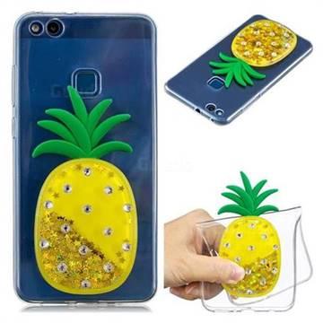Gold Pineapple Liquid Quicksand Soft 3D Cartoon Case for Huawei P10 Lite P10Lite