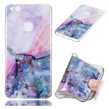 Purple Amber Soft TPU Marble Pattern Phone Case for Huawei P10 Lite P10Lite