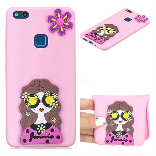 Violet Girl Soft 3D Silicone Case for Huawei P10 Lite P10Lite