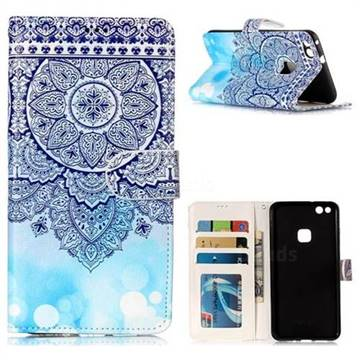 Totem Flower 3D Relief Oil PU Leather Wallet Case for Huawei P10 Lite P10Lite