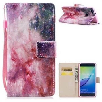 Cosmic Stars PU Leather Wallet Case for Huawei P10 Lite P10Lite