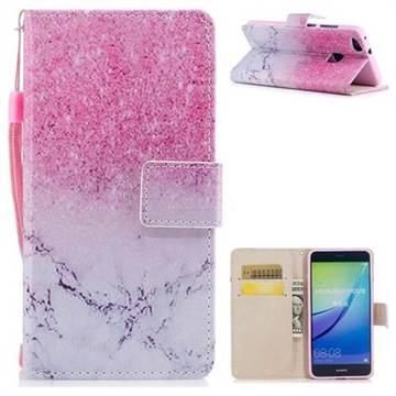 Marble Powder PU Leather Wallet Case for Huawei P10 Lite P10Lite