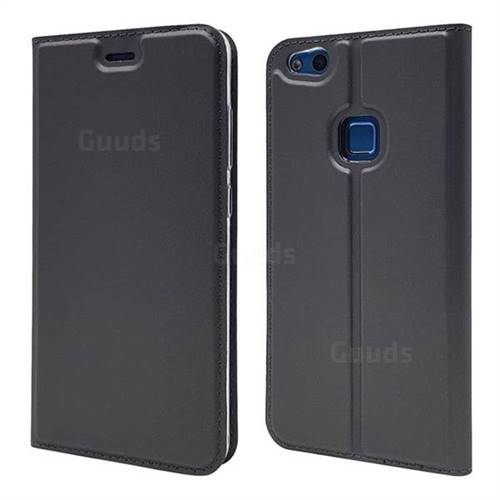 Ultra Slim Card Magnetic Automatic Suction Leather Wallet Case for Huawei P10 Lite P10Lite - Star Grey