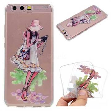 Travel Girl Super Clear Soft TPU Back Cover for Huawei P10 Plus