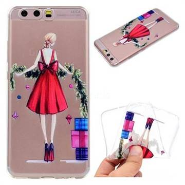Christmas Girl Super Clear Soft TPU Back Cover for Huawei P10 Plus