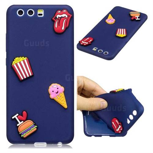 I Love Hamburger Soft 3D Silicone Case for Huawei P10 Plus