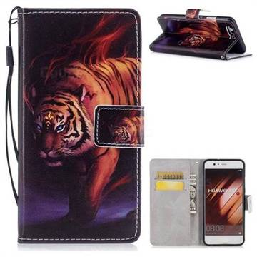 Mighty Tiger PU Leather Wallet Case for Huawei P10 Plus