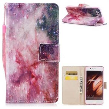 Cosmic Stars PU Leather Wallet Case for Huawei P10 Plus