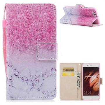 Marble Powder PU Leather Wallet Case for Huawei P10 Plus