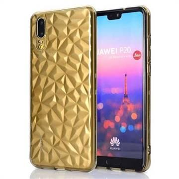 Diamond Pattern Shining Soft TPU Phone Back Cover for Huawei P20 - Gray