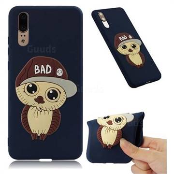 Bad Boy Owl Soft 3D Silicone Case for Huawei P20 - Navy