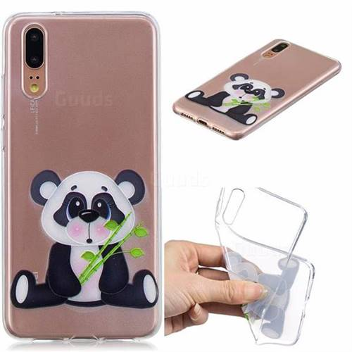 Bamboo Panda Clear Varnish Soft Phone Back Cover for Huawei P20