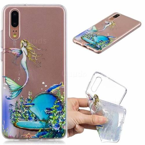 Mermaid Clear Varnish Soft Phone Back Cover for Huawei P20