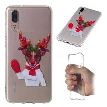 Red Gloves Elk Super Clear Soft TPU Back Cover for Huawei P20