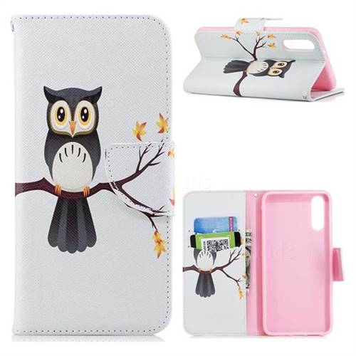 Owl on Tree Leather Wallet Case for Huawei P20