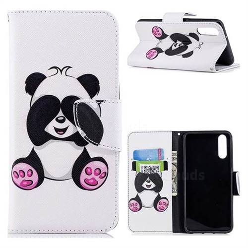 Lovely Panda Leather Wallet Case for Huawei P20