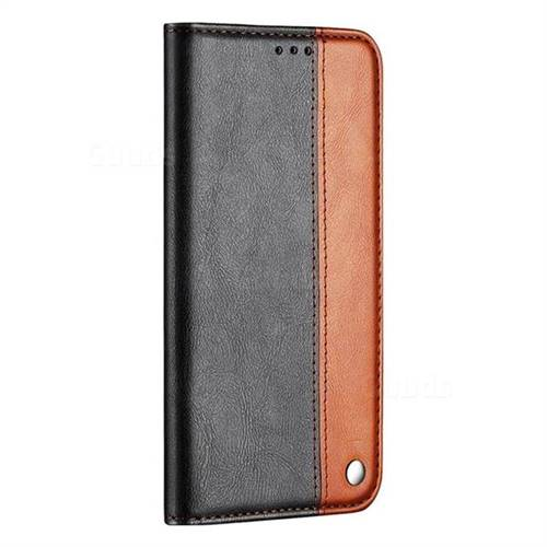 best website 1d308 213cb Classic Business Ultra Slim Magnetic Sucking Stitching Flip Cover for  Huawei P20 - Brown