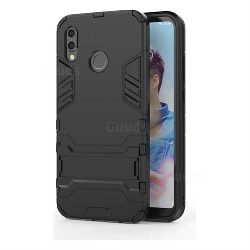 Armor Premium Tactical Grip Kickstand Shockproof Dual Layer Rugged Hard Cover for Huawei P20 Lite - Black