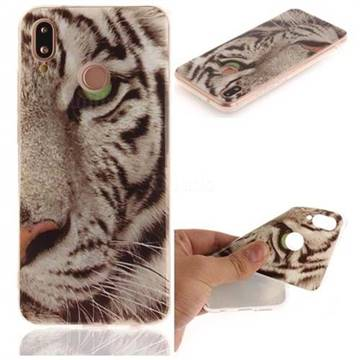 White Tiger IMD Soft TPU Back Cover for Huawei P20 Lite