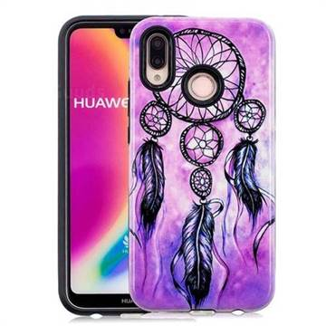 Starry Wind Chimes Pattern 2 in 1 PC + TPU Glossy Embossed Back Cover for Huawei P20 Lite