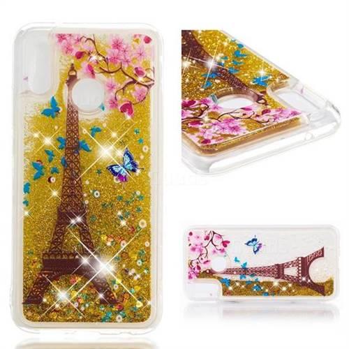 Dynamic Liquid Glitter Quicksand Soft TPU Case for Huawei P20 Lite - Golden Tower